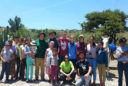 Group photo of USU engineers and villagers