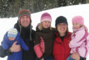 A family photo of the Johnsons with Elise two weeks before the accident at Beaver Mountain.