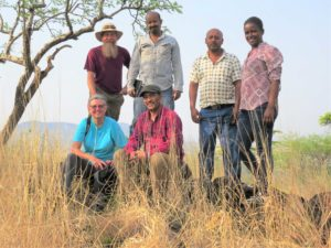 Jacobs and Schloeder pose with friends at Omo National Park.