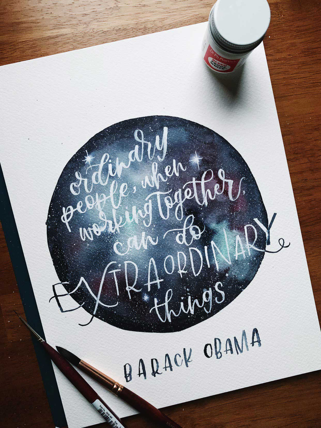 Lettering Illustrator of a Barack Obama quote