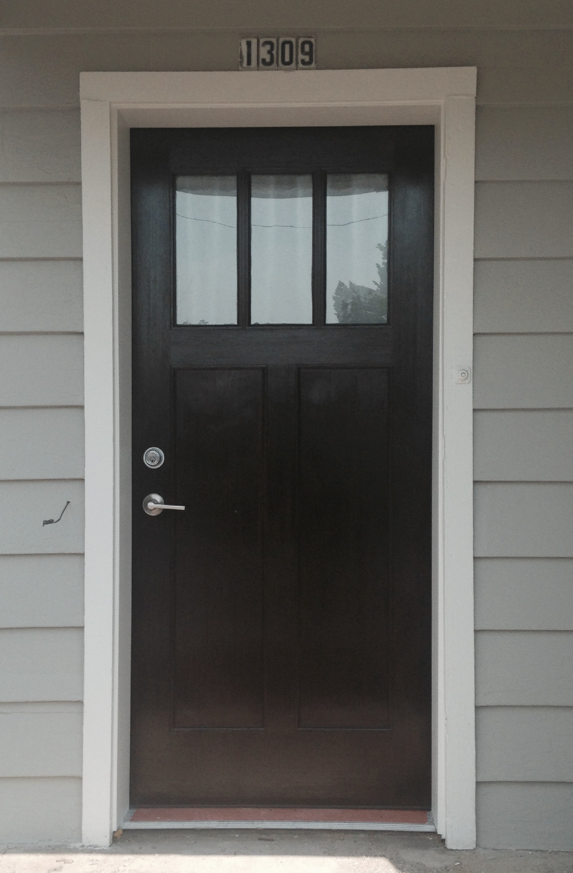 front door of the house