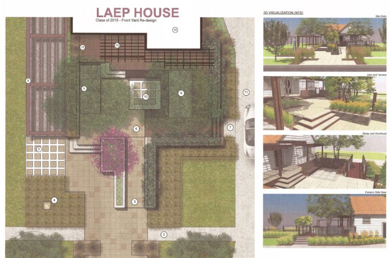 Landscaping plan for the house