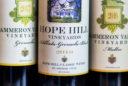 wines bottles in a line