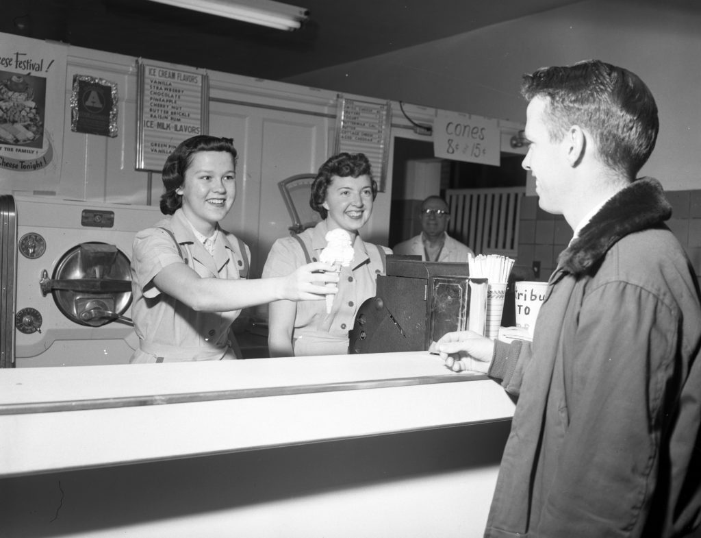 1953 Aggie Ice Cream Counter
