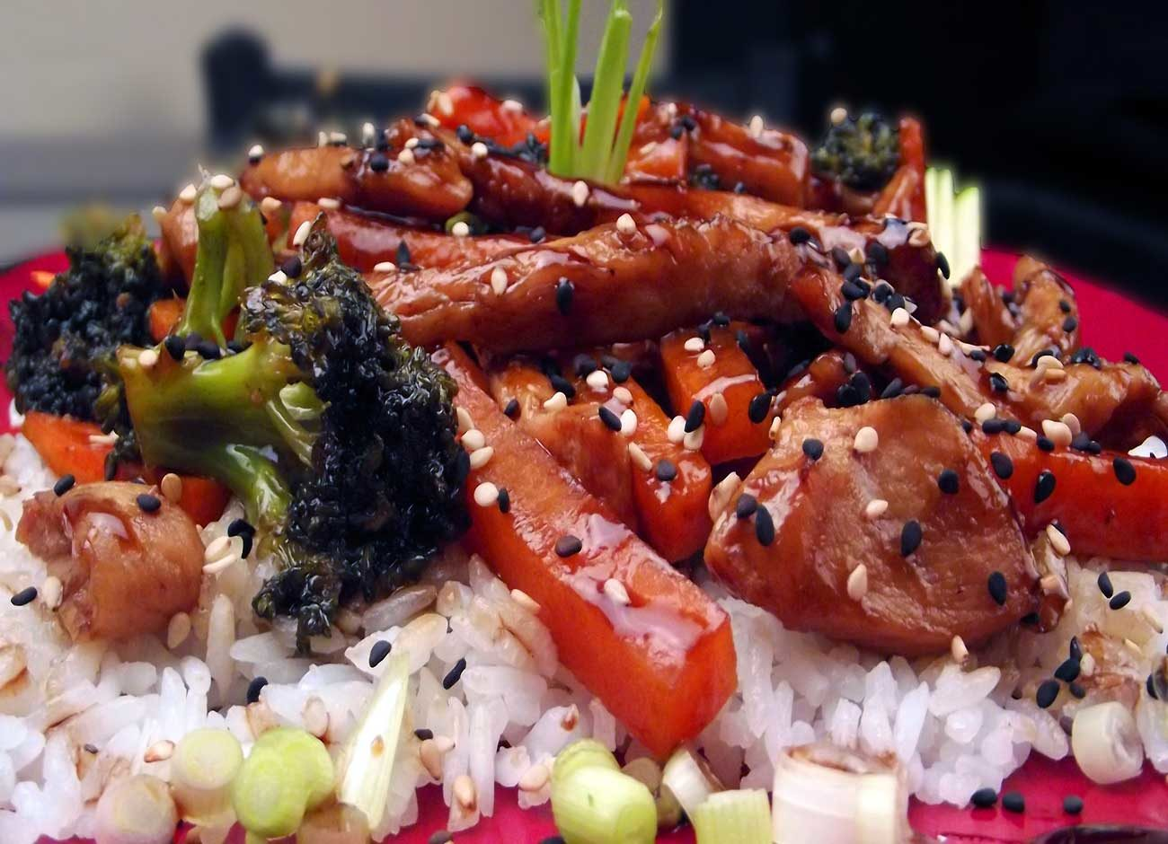 chicken teriyaki over rice
