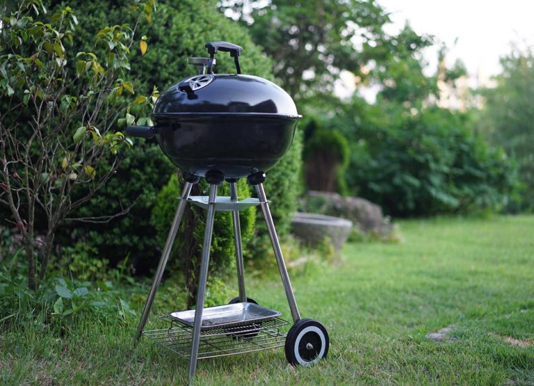 outdoor grill on grass