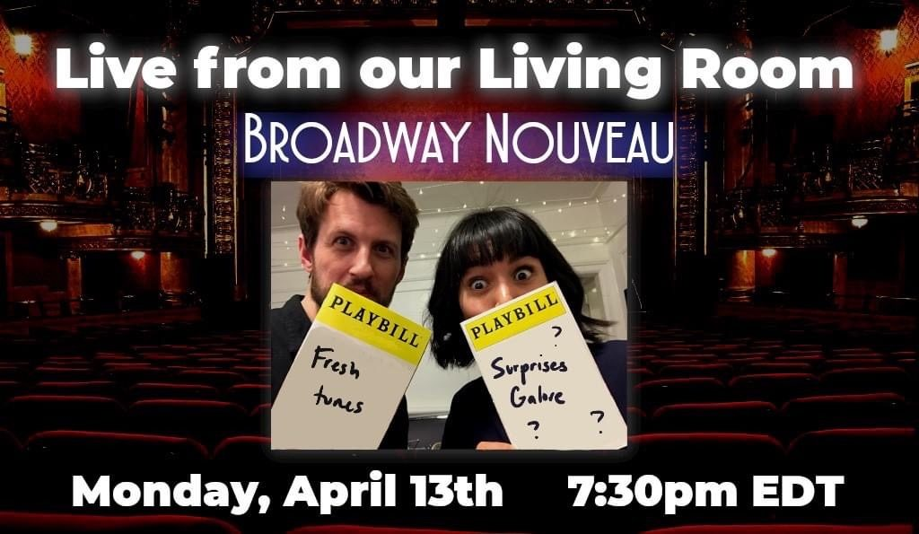 Live From Our Living room advertisement playbill for Belen Moyano's online concerts