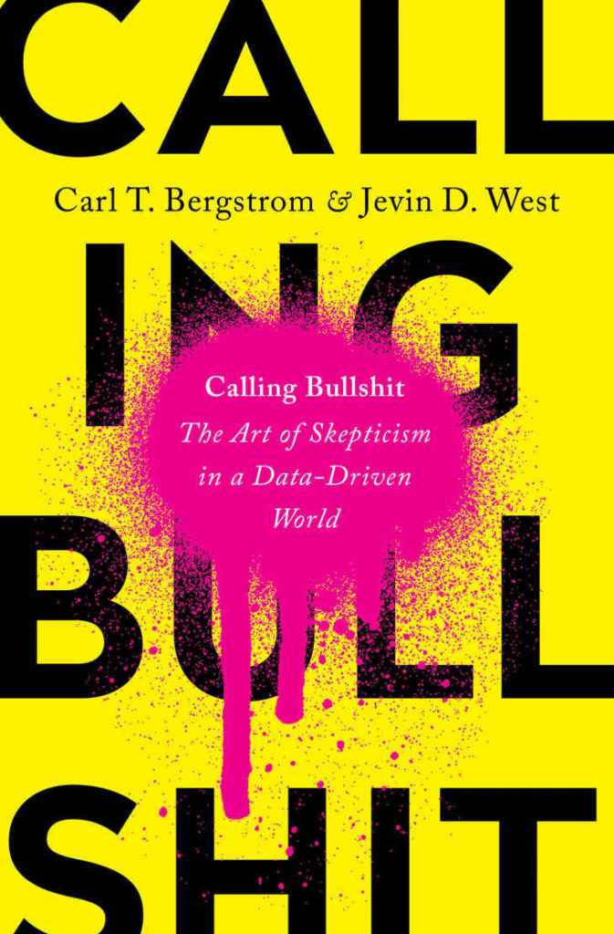 a book cover with the title Calling Bullshit on the front